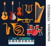 Musical Instruments Icons Of...