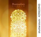 ornamental mosque window with... | Shutterstock .eps vector #429810943