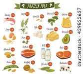 best protein food icons... | Shutterstock .eps vector #429822637