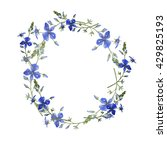 forget me not garland. wild... | Shutterstock . vector #429825193