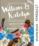 wedding invitation with... | Shutterstock .eps vector #429826117