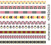 seamless vector tribal borders. ... | Shutterstock .eps vector #429826213
