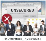 unsecured virus detected hack... | Shutterstock . vector #429840367
