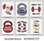 vector set of modern fitness... | Shutterstock .eps vector #429840727