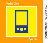 portable media player icon. eps ...