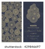 invitation card arabic  mandala ... | Shutterstock .eps vector #429846697