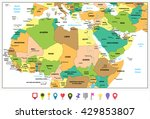 highly detailed political map... | Shutterstock .eps vector #429853807