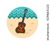 guitar beach vector icon. beach.... | Shutterstock .eps vector #429865123