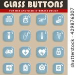medicine web icons for user...   Shutterstock .eps vector #429876307