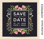 vintage save the date wedding... | Shutterstock .eps vector #429890023