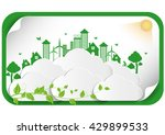 abstract ecology connection... | Shutterstock .eps vector #429899533