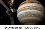 Jupiter And Satellite Juno  3d...