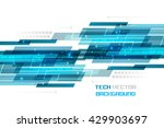 abstract blue straight lines on ... | Shutterstock .eps vector #429903697