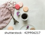 french breakfast  macaroons and ... | Shutterstock . vector #429906217