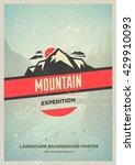 retro style wilderness poster... | Shutterstock .eps vector #429910093