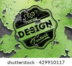 beautiful grungy distressed... | Shutterstock .eps vector #429910117