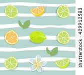 Citrus Lemon And Lime Fruit...