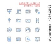 business and office outline... | Shutterstock .eps vector #429912913