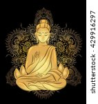 buddha sitting in the lotus...   Shutterstock .eps vector #429916297