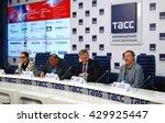 moscow   june 01  2016  press... | Shutterstock . vector #429925447