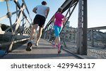 healthy mature couple jogging... | Shutterstock . vector #429943117
