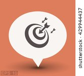 pictograph of target | Shutterstock .eps vector #429944437