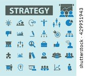 strategy icons  | Shutterstock .eps vector #429951943