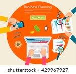flat design illustration... | Shutterstock .eps vector #429967927
