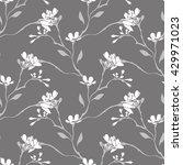spring flowers seamless pattern   Shutterstock .eps vector #429971023