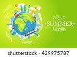 polygonal skyline and vehicles... | Shutterstock .eps vector #429975787