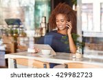 hanging out at her favorite cafe | Shutterstock . vector #429982723