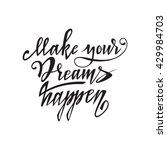 hand lettering typography... | Shutterstock .eps vector #429984703