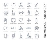 set vector line icons in flat... | Shutterstock .eps vector #430001827