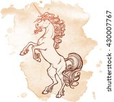 unicorn standing on its hind... | Shutterstock .eps vector #430007767