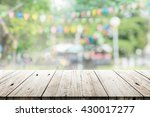 empty wooden table with blurred ... | Shutterstock . vector #430017277