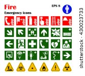 vector fire emergency icons.... | Shutterstock .eps vector #430023733