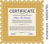 diploma or certificate template.... | Shutterstock .eps vector #430024783