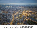 night cityscape in japan ...   Shutterstock . vector #430028683