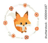 little cute squirrel  and... | Shutterstock .eps vector #430044187