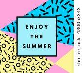 summer hipster boho chic... | Shutterstock .eps vector #430053343