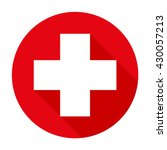 Vector Red Cross Icon. Red...