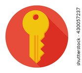 key iaccess tool icon flat sign ...