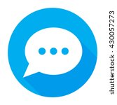 speech bubble icon flat. speech ...