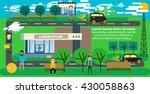 park infographic elements flat... | Shutterstock .eps vector #430058863
