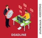 deadline concept of overworked... | Shutterstock .eps vector #430059043
