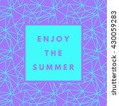 summer hipster boho chic... | Shutterstock .eps vector #430059283