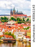 panorama of prague | Shutterstock . vector #430061143
