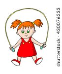 skipping rope girl | Shutterstock .eps vector #430076233