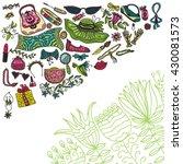 woman accessories | Shutterstock .eps vector #430081573