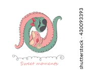 hand drawn romantic universal...   Shutterstock . vector #430093393